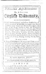 Dictionarium Anglo Britannicum To Which Is Added A Collection Of Words And Phrases Made Use Of In Our Ancient Statutes Old Records Charters Etc Second Edition Corrected Book PDF