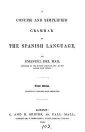 A theoretical and practical grammar of the Spanish language