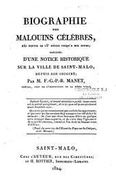 Biographie des Malouins célèbres