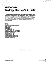 Wisconsin Turkey Hunter s Guide PDF