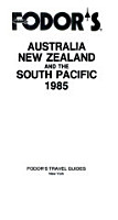 Australia  New Zealand and the Pacific  1985 PDF