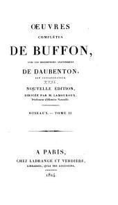 Oeuvres complètes de Buffon: avec les descriptions anatomiques de Daubenton, son collaborateur, Volume31,Partie2