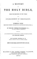 A History of the Holy Bible  etc PDF