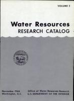 Water Resources Research Catalog PDF