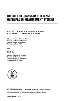 The Role of Standard Reference Materials in Measurement Systems PDF