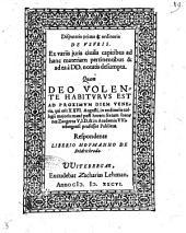 Disputatio prima & ordinaria de vsuris. Ex variis juris ciuilis capitibus ... desumpta. Quam ... habiturus est ... Ioannes Zangerus ... Respondente Liberio Hofmanno de Fridrichroda