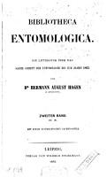 Bibliotheca entomologica  N Z mit einem systematischen Sachregister PDF