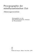 Prosopographie der mittelbyzantinischen Zeit  Bd  A  i     20001 Christophoros   21278  PDF