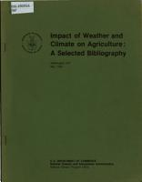 Impact of Weather and Climate on Agriculture PDF