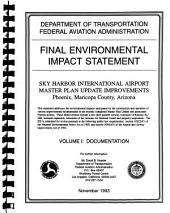 Sky Harbor International Airport, Master Plan Update Improvements: Environmental Impact Statement