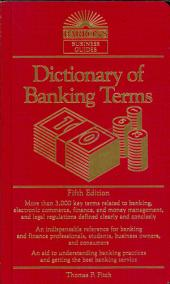Dict of Banking Terms, 5th