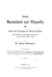 Durch Massailand zur Nilquelle: Reisen und Forschungen der Massai-Expedition des deutschen Antisklaverei-Komite in den Jahren 1891-1893