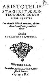 Meteorologicorum liber IV.