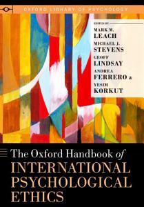 The Oxford Handbook of International Psychological Ethics PDF