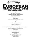 Military Living's European Military Travel Guide Plus Near East Areas