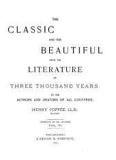 The Classic and the Beautiful from the Literature of Three Thousand Years: Volume 6