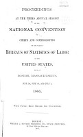 Proceedings at the     Annual Session of the National Convention of Chiefs and Commissioners of the Various Bureaus of Statistics of Labor in the United States PDF