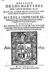 Relacion de los martyres del Iapon del año de 1627