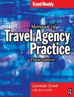 Manual of Travel Agency Practice PDF