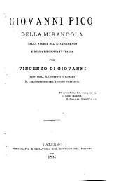 Giovanni Pico della Mirandola nella storia del Rinascimento e della filosofia in Italia