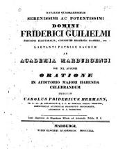 Disputatio de Hippodamo Milesia ad Aristotelis Politic: II. 5. [Progr.]