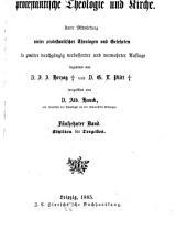 Real-encyklopädie für protestantische theologie und kirche: Band 15