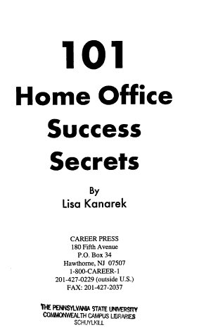 101 Home Office Success Secrets PDF