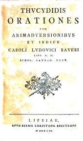 Orationes Cvm Animadversionibvs Et Indice Caroli Lvdovici Baveri