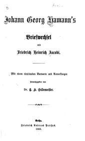 Briefwechsel mit Friedrich Heinrich Jacobi