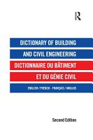 Dictionary of Building and Civil Engineering PDF