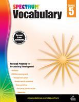 Spectrum Vocabulary Grade 5