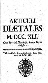 Articuli diætales 1741