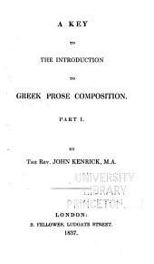 A Key to the Introduction to Greek Prose Composition: Part 1