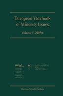 European Yearbook of Minority Issues PDF