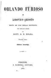 Orlando furioso di Locovico Ariosto: Vol. unico. Ed. stereotipa