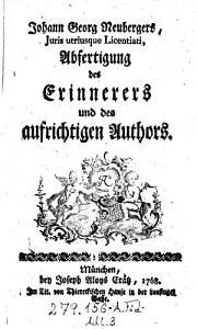 Abfertigung des Erinnerers und des aufrichtigen Authors PDF