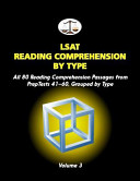 LSAT Reading Comprehension by Type  Volume 3