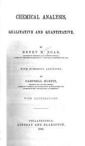 Chemical Analysis, Qualitative and Quantitative
