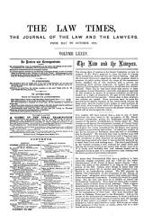The Law Times: Volume 85