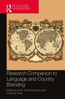 Research Companion to Language and Country Branding PDF