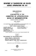 Department of Transportation and Related Agencies Appropriations for 1978 PDF