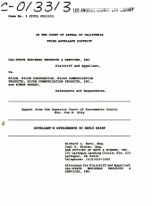 California. Court of Appeal (3rd Appellate District). Records and Briefs: C013313, Other