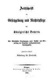Zeitschrift für Gesetzgebung und Rechtspflege des Königreichs Bayern: Band 12