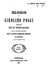 Elogio di Girolamo Poggi detto dall'avv. Vincenzo Salvagnoli nell'adunanza solenne dell'I. e Reale Accademia dei Georgofili di Firenze il di 31 dicembre 1837