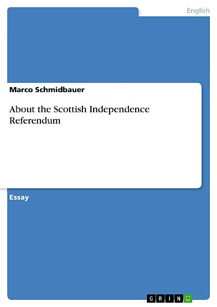 About the Scottish Independence Referendum