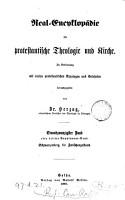 Real Encyklop  die f  r protestantische Theologie und Kirche   With  Generalregisterband PDF