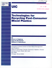 Technologies for Recycling Post-consumer Mixed Plastics