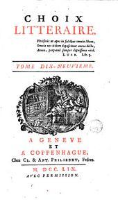 Choix littéraire: Volume19