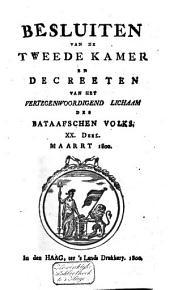Besluiten van de Tweede Kamer en decreeten van het Vertegenwoordigend Lichaam des Bataafschen Volks: Volume 14