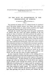 On the Duty of Governments in the Preservation of Forests. From the proceedings of the American Association for the Advancement of Science, etc